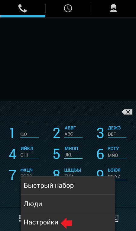 Рис.3 – Настройки вызовов в Android