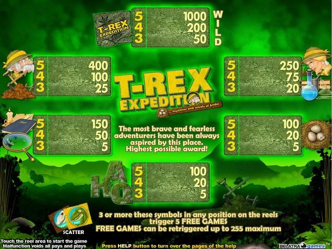 T rex slot e games online